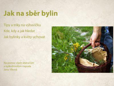 Jana Vlková: Jak na sběr rostlin